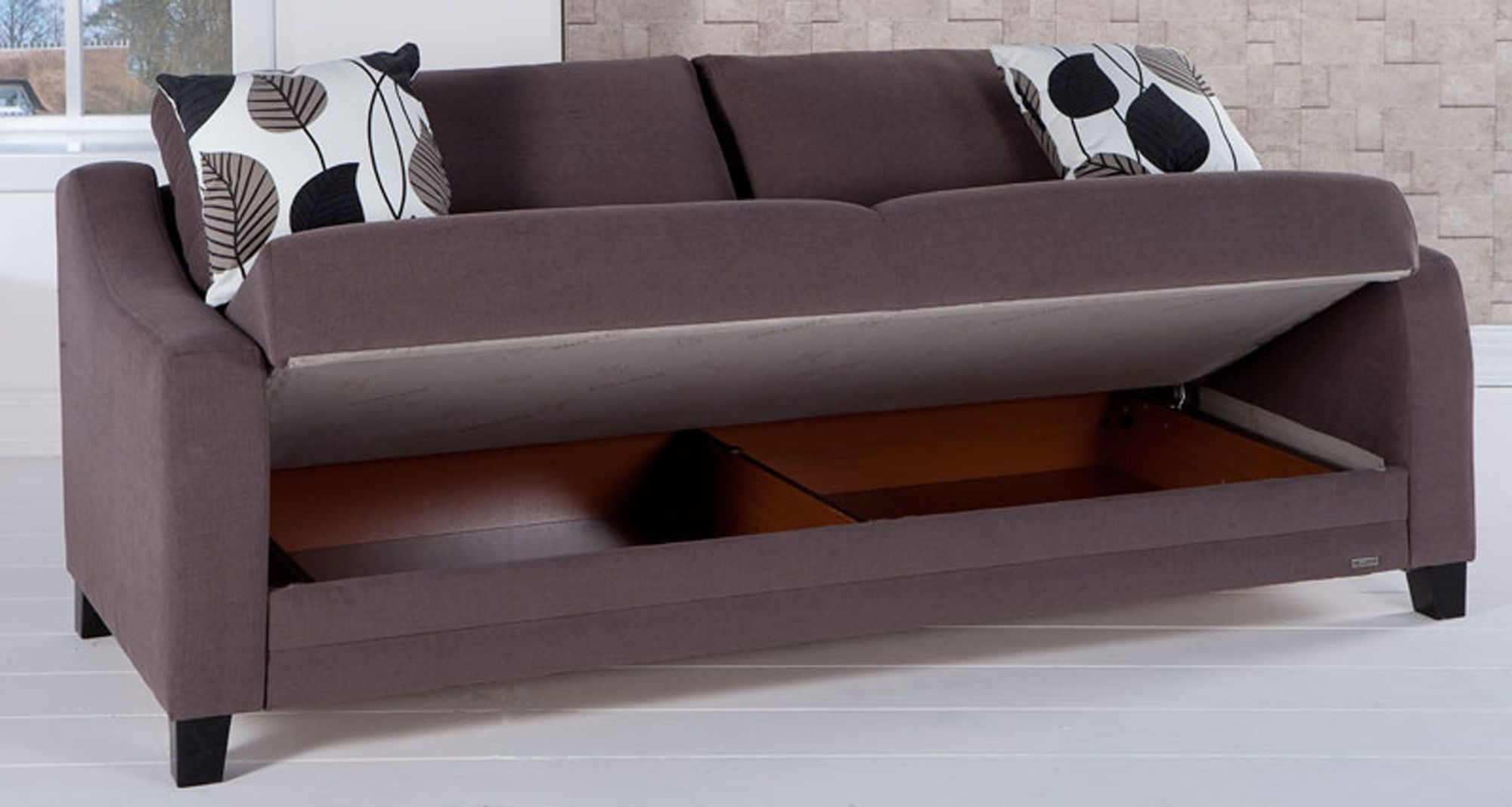 Love Seat With Storage And Folds Down Like A Futon It Denver Sofa Bed Istikbal Furniture