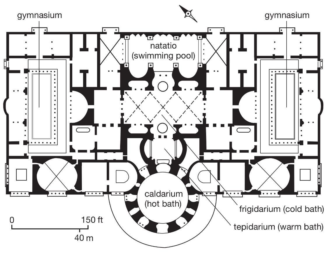 Roman Baths Floor Plan