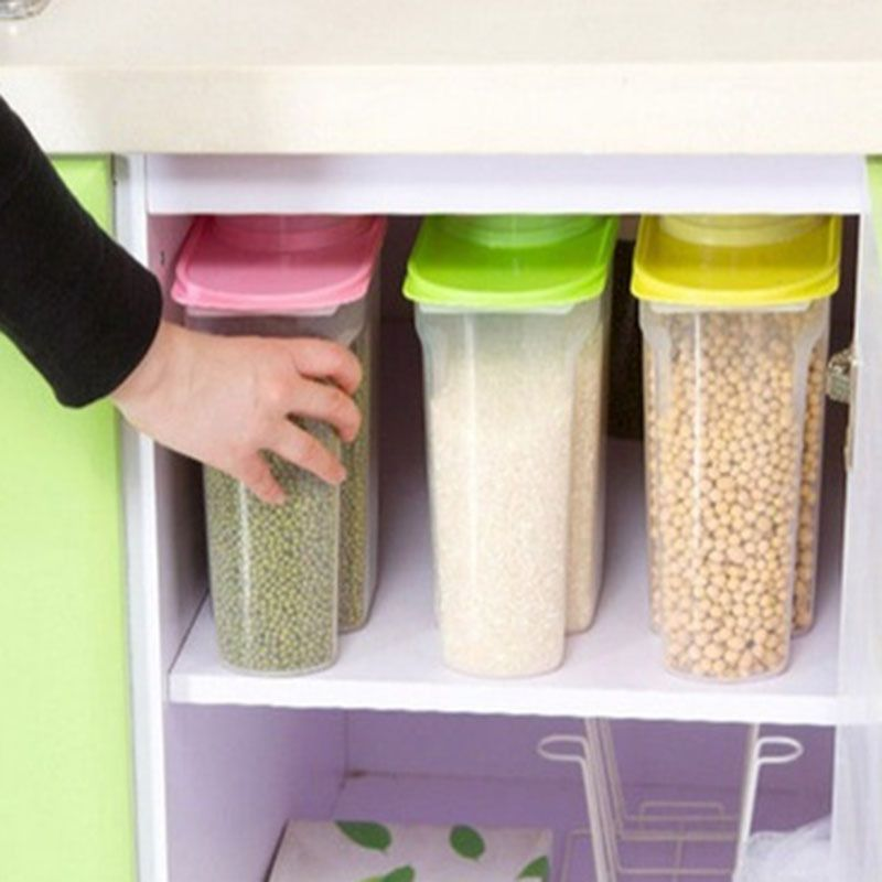 2.5L Large Capacity Plastic Box Dried Food Cereal Storage Organize Container