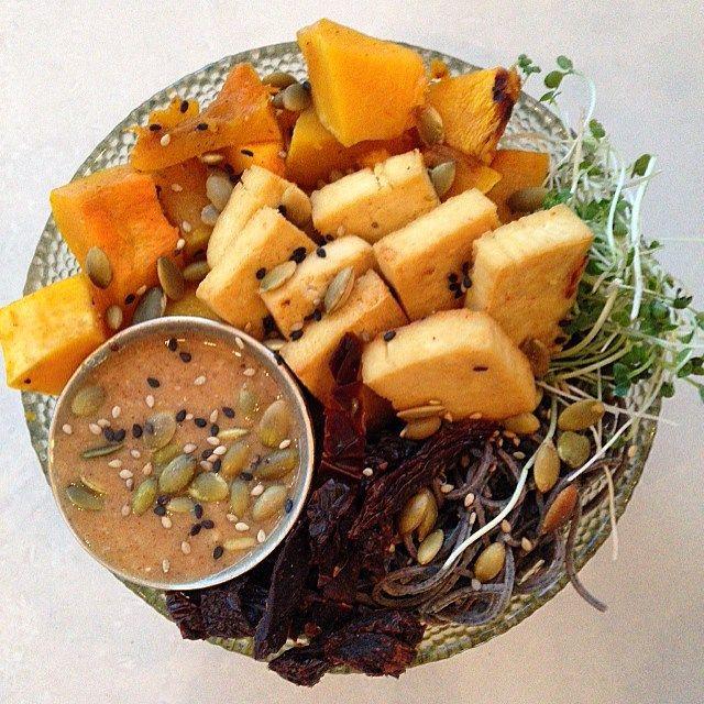 #BUDDHABOWL fall edition!!!kale  tofublack bean pastabutternut squashdried tomatoes almond-maple sauce and #microplantsrobert brocolli brassica microgreenss #vegan #veggies #veganfood #vegansofig #veganbowl #vegetables #vegetarian #vegandinner #veganfoodporn #macrobowl #whatveganseats #superfoods #microgreens #plantbasedfood #plantbaseddinner #plantbased #healthydinner #healthyfood #healthy #rawfood #rawliving #bestofvegan #govegan #foodporn #foodie #wholegrains #hclf #rainbowbowl by…