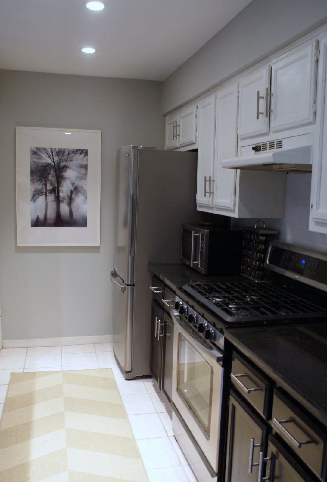 Black cabinets (do not like upper white), stainless ...