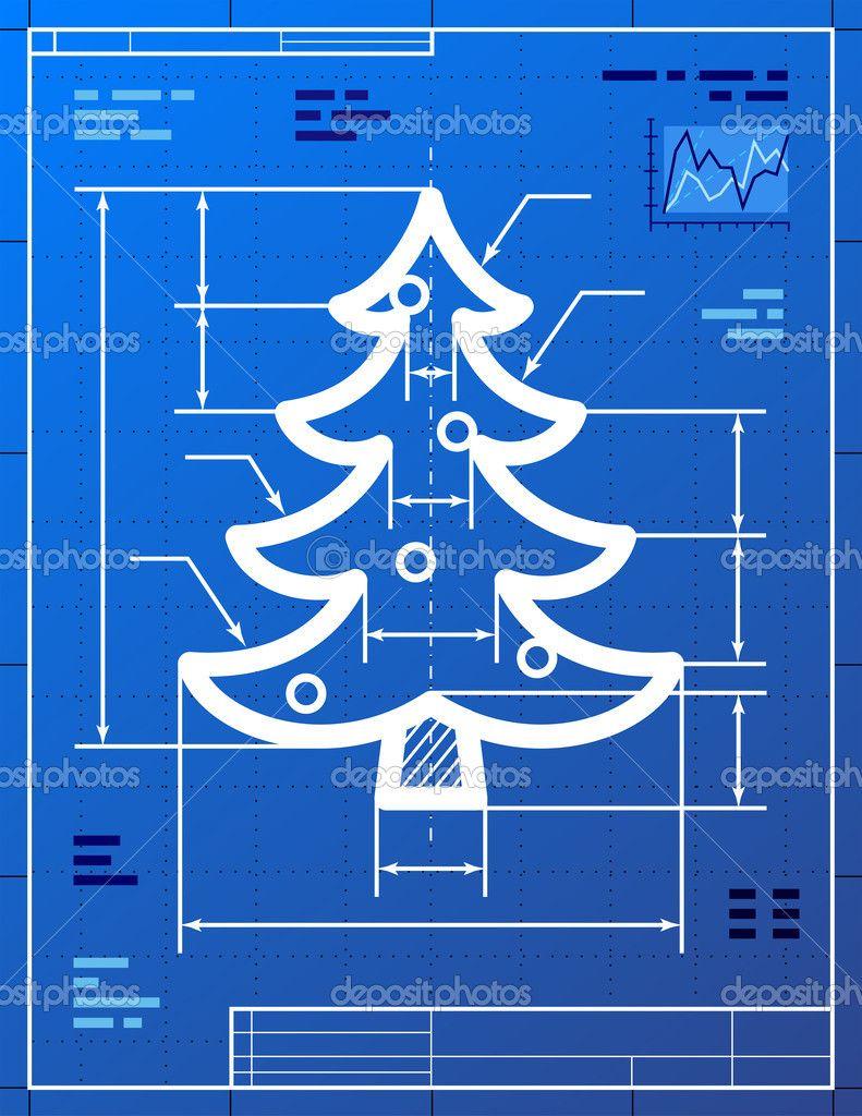 Http St Depositphotos Com 1938837 3313 V 950 Depositphotos 33138497 Christmas Tree Symbol Like Blueprint Drawing Jpg Karten Weihnachtsideen Weihnachtskarten