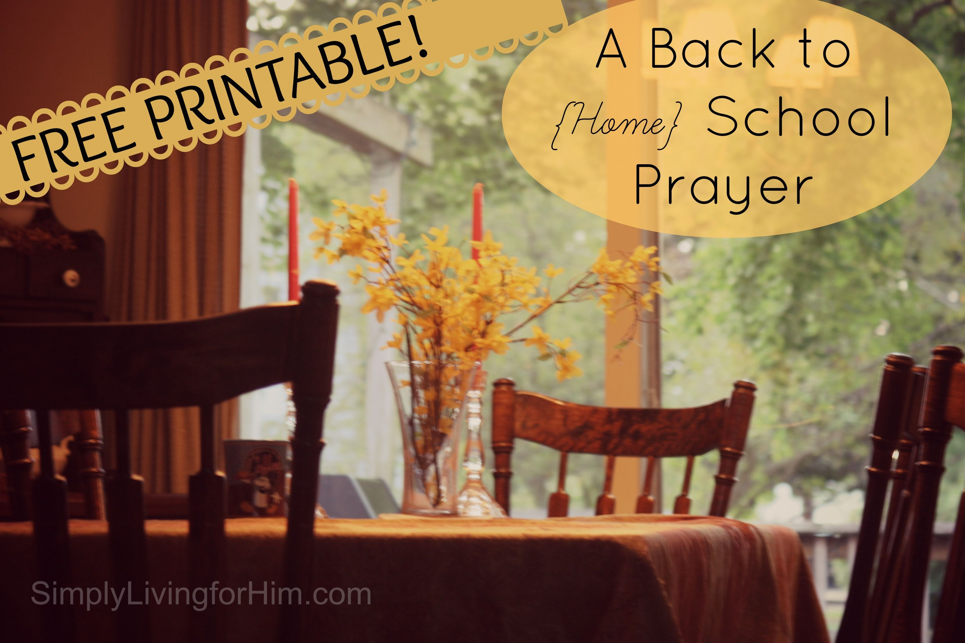 Encouragement for the homeschooling momma  A Homeschool Mother's Prayer- FREE Printable | Bible Based Homeschooling