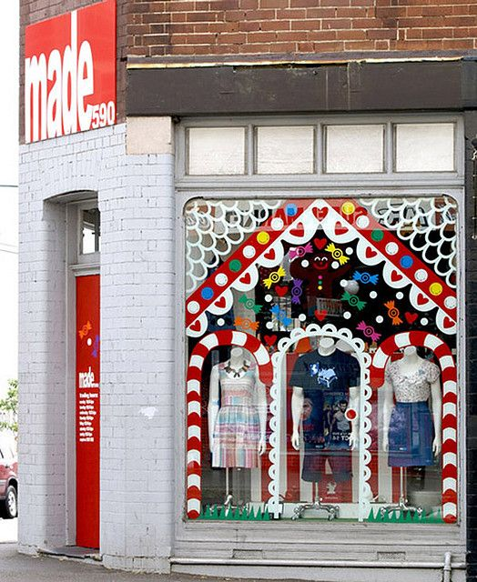 Christmas Decorations Shops Sydney: Made590 Gingerbread House Store Window