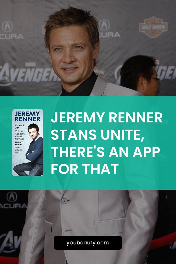 Jeremy Renner Stans Unite, There's An App For That