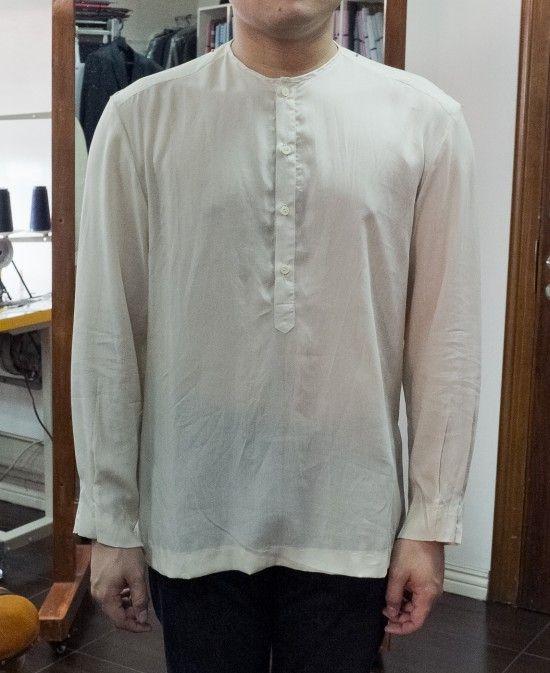 eb8712390736 Tailored Camisa de Chino for Barong Tagalog