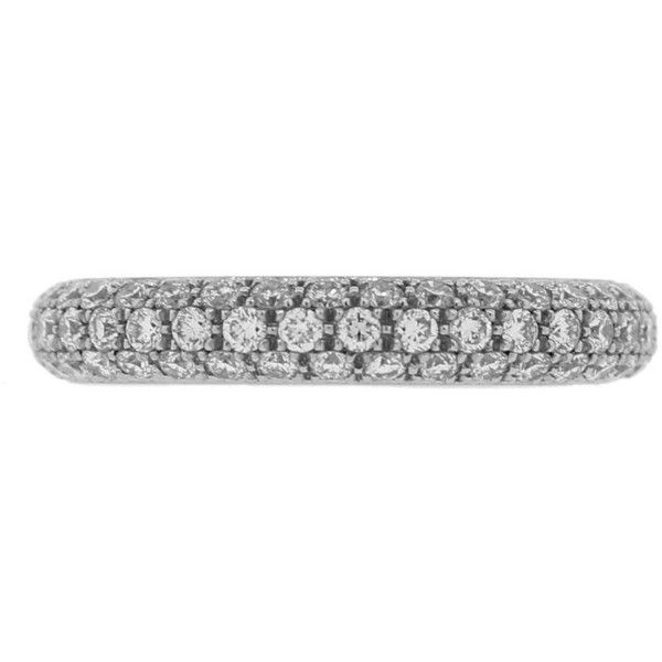 LUCIE CAMPBELL Thick Three Row Diamond Eternity Ring - Platinum (€5.050) ❤ liked on Polyvore featuring jewelry, rings, silver, platinum diamond rings, round solitaire ring, solitaire diamond ring, solitaire ring and round diamond solitaire