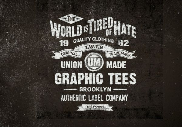 creative, design, Examples, Fonts, illlustration, Inspiration, print, Typography,TWTH by BMD Design