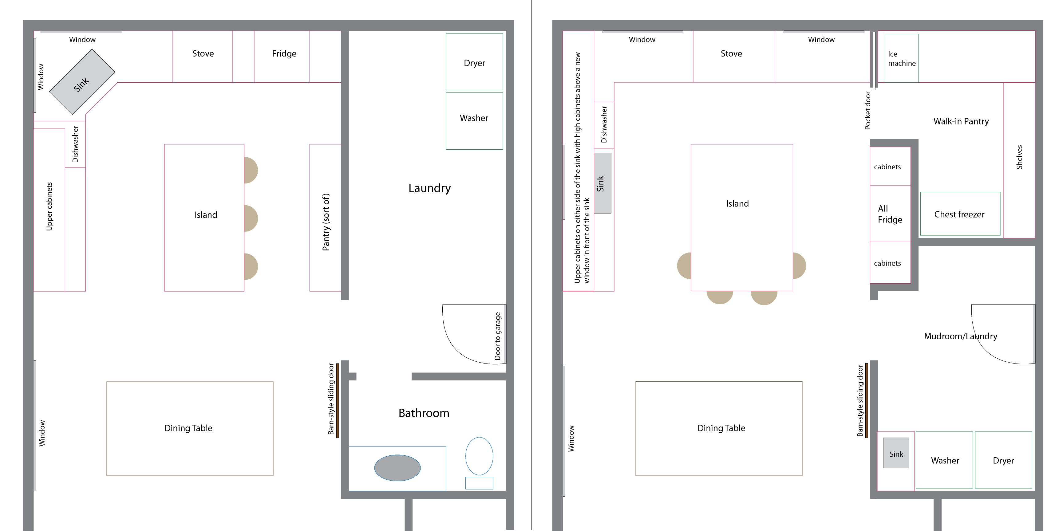 House Plans With Utility Rooms Part - 17: Old And New Floor Plans · Laundry Room ...