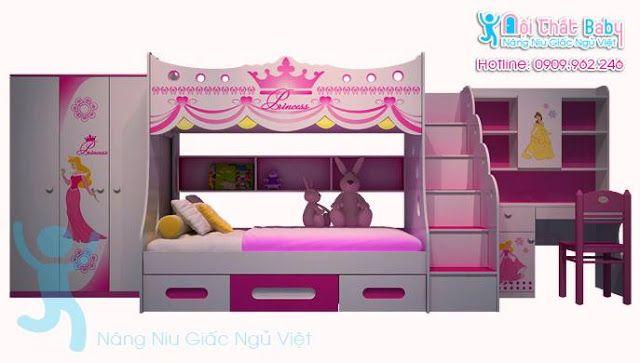 giường tầng, tủ áo kitty 1