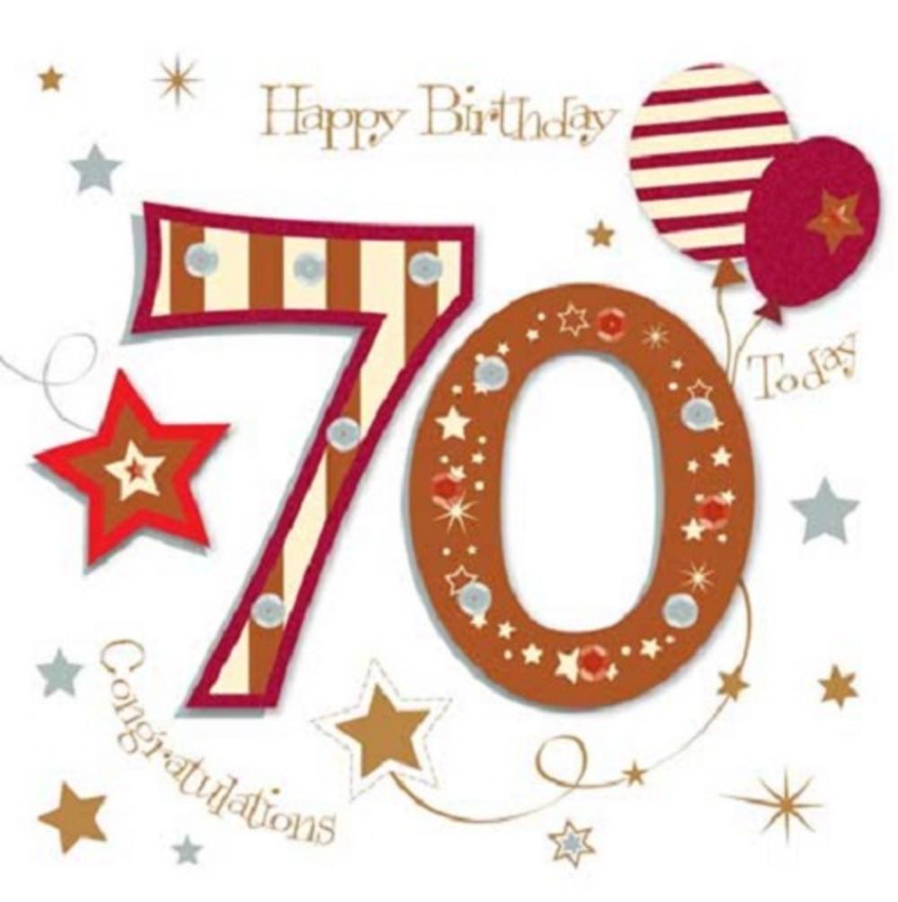 Happy 70th Birthday Greeting Card By Talking Pictures Cards Love Kates 70th Birthday Card Happy 70 Birthday Birthday Greeting Cards