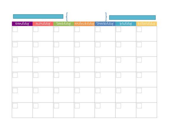 Blank Monthly Calendar Blank monthly calendar and Pdf