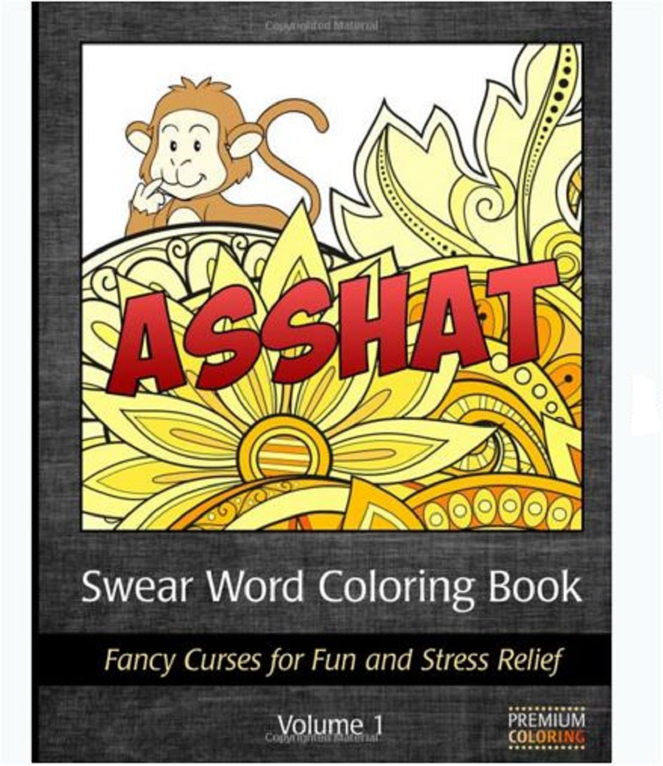Coloring Book For Adults Swear Words Design Fancy Curses Stress Relief Pattern