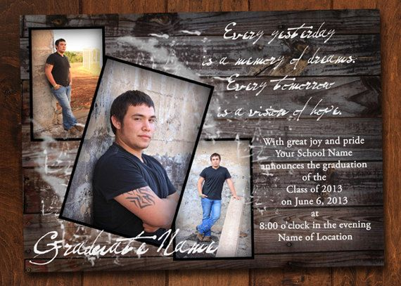 Senior Graduation Invitation Wood Grain Etsy Graduation Ideas