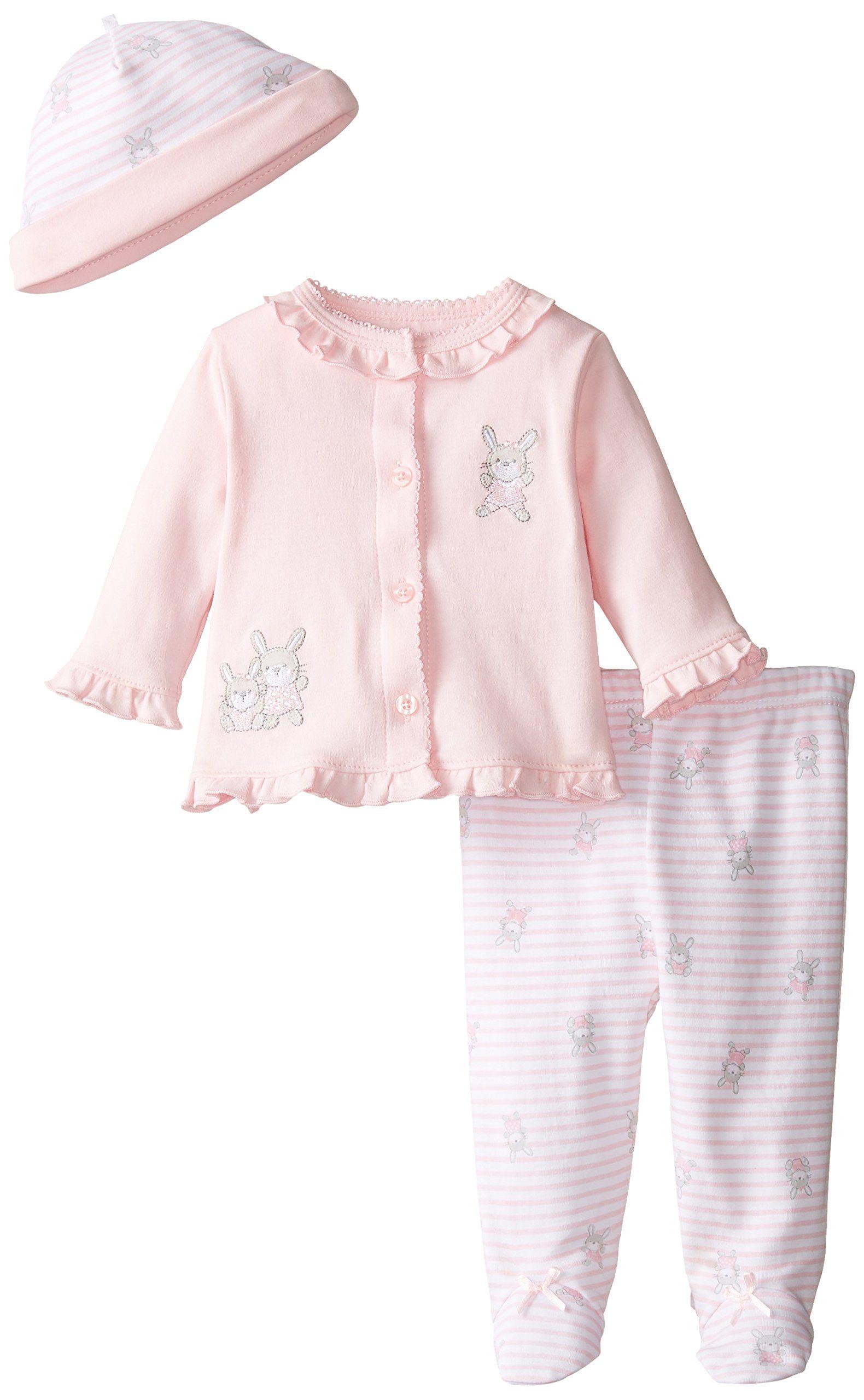 amazon little me babygirls newborn bunny stripe take