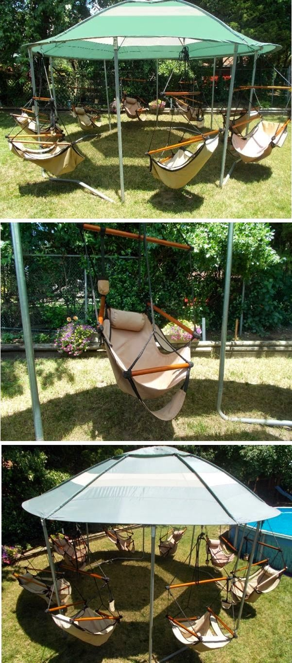 Multiswing chair set put a fire pit in the middle garden ideas