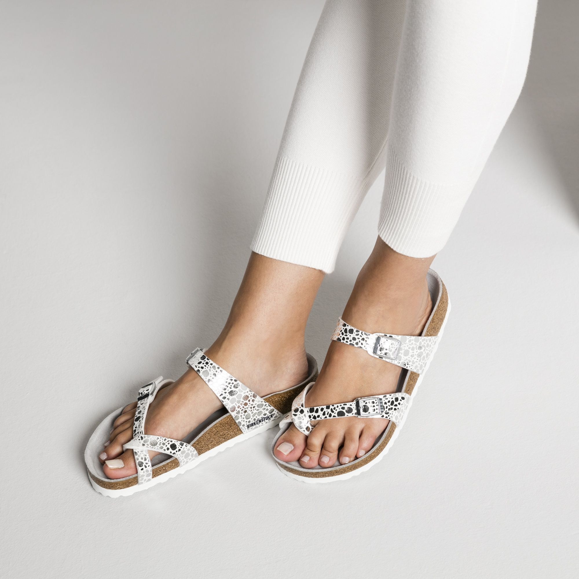 2cef1dc7a553 Mayari Birko-Flor Metallic Stones Silver