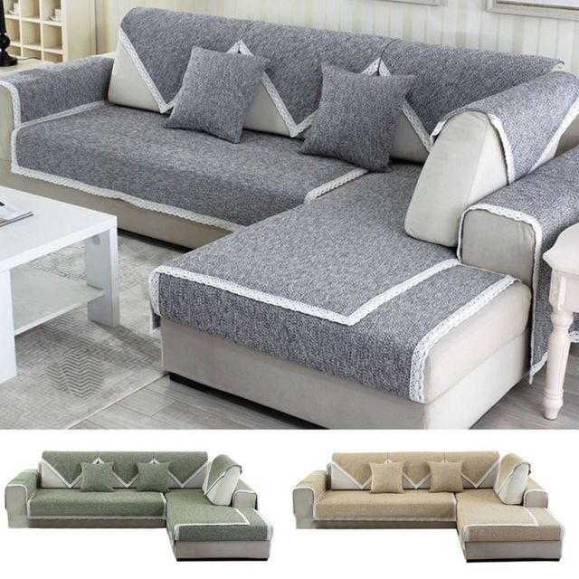 1pc Slipcover Sofa Seat Slip Cover Sectional Corner Couch