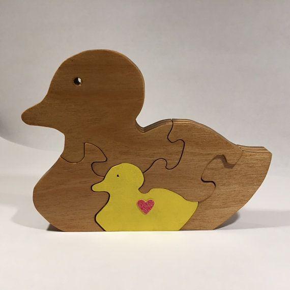Wooden Duck Jigsaw Puzzle | Scroll Saw - coloured jigsaws | Pinterest