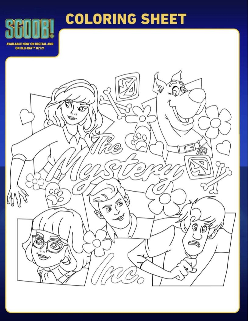 Scooby Do Mystery Inc Coloring Sheet In 2021 Scooby Doo Coloring Pages Coloring Pages Lego Coloring Pages