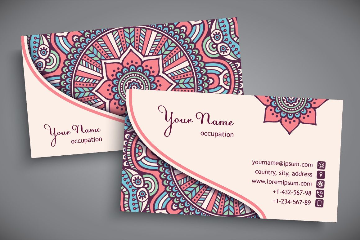 Business cards in ethnic style by visnezh on creative market co business cards in ethnic style templates zip 2 png image contact me if you have any questions vikaezho by visnezh reheart Gallery