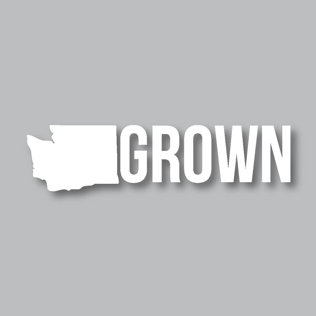 Washington Grown Diecut Sticker Oregon Grown Themed Stickers Oregon [ 1024 x 1024 Pixel ]