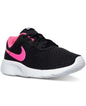 f58f5969199ee Nike Little Girls  Tanjun Casual Sneakers from Finish Line - Gray 11 ...