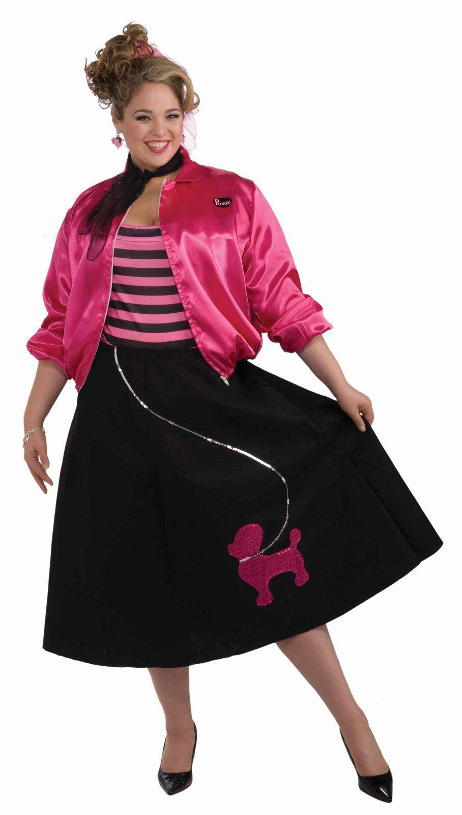 Poodle Skirt Set Adult Womens Plus Size Costume Spirit Halloween
