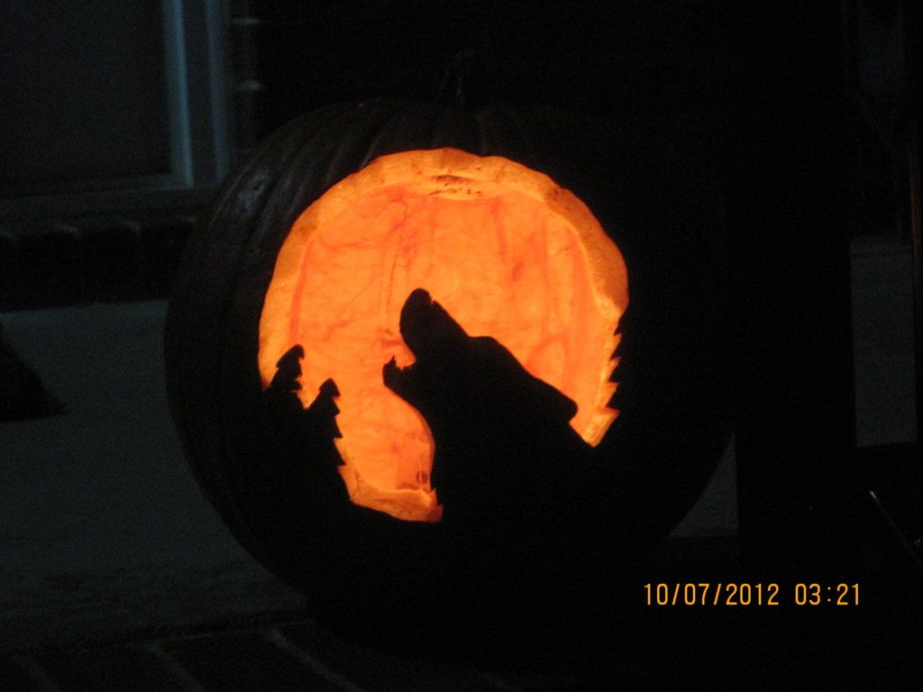 Wolf Pumpkin Carving Patterns New Design Ideas