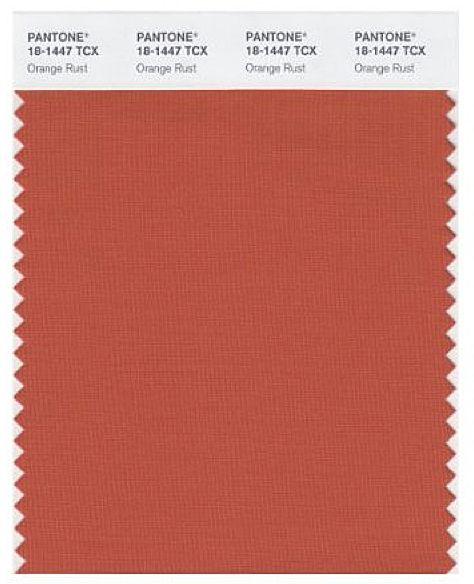 Pantone Orange Rust (textile) | Copper Fashion in 2019