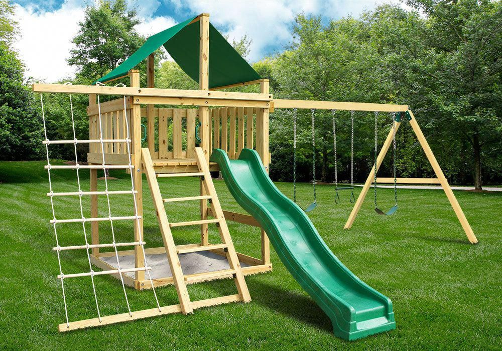 Eclipse Fort With Swing Set Diy Hardware Kit Plans Swing Set Diy Diy Swing Swing Set Plans