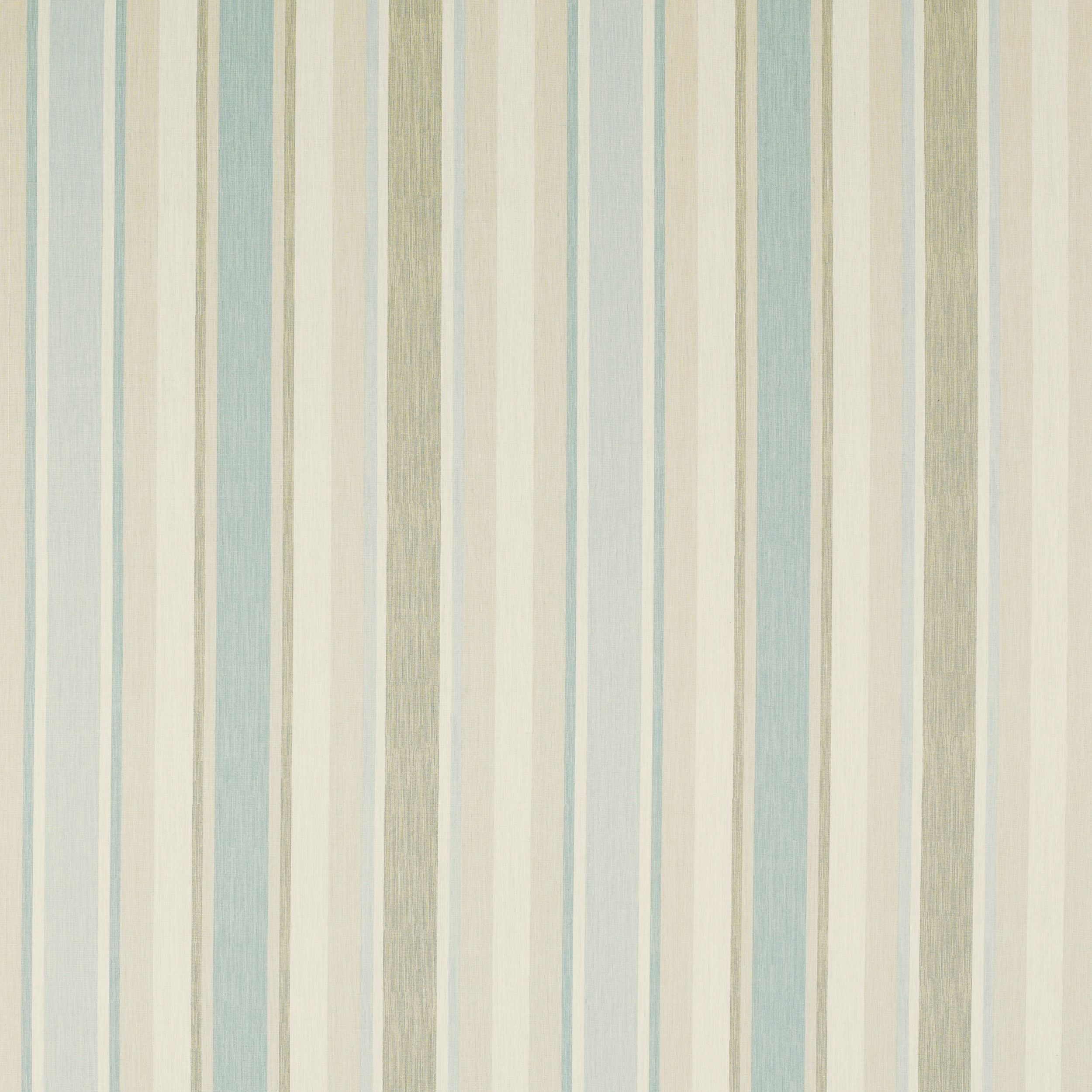 Awning Stripe Cotton/Linen Fabric Duck Egg (poss Kitchen