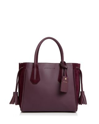 51cb8f3a3 Longchamp Penelope Soft Small Leather and Suede Tote   Bloomingdale's