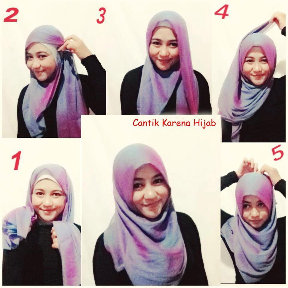 Tutorial Hijab Persegi Panjang Simple Tanpa Ciput Jilbab Sederhana Gaya Hijab Hijab