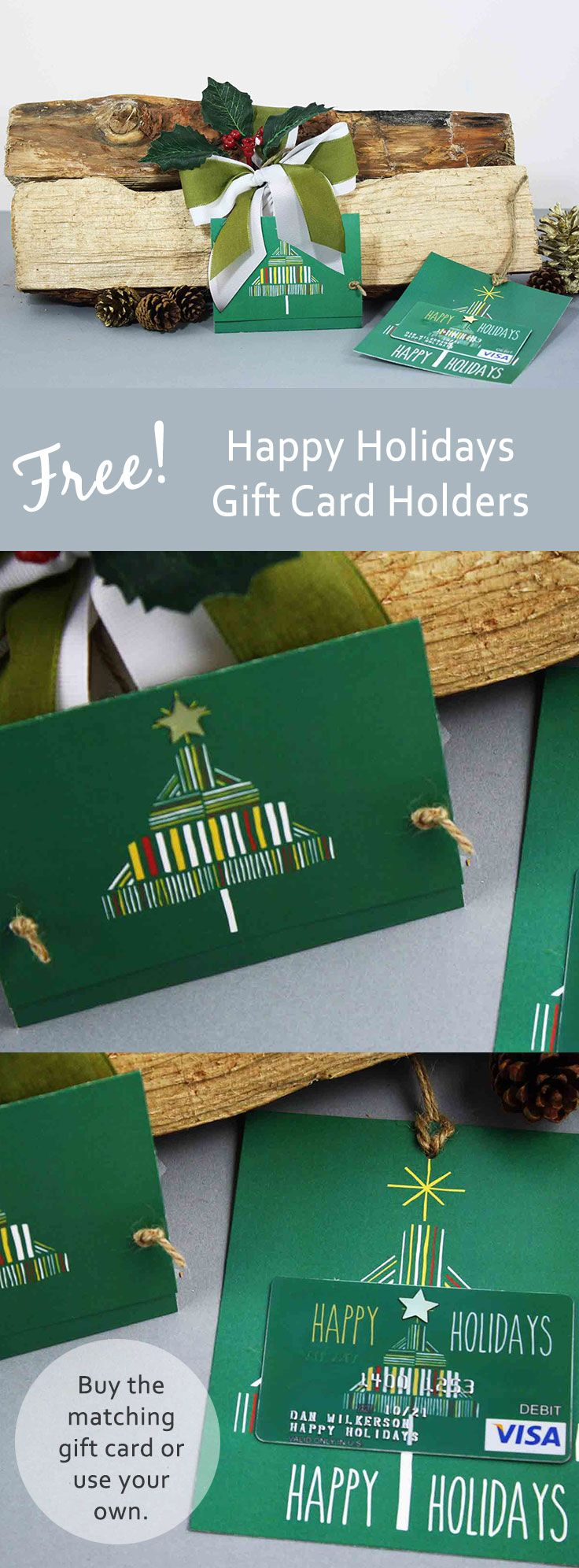 Free Printable Happy Holidays Gift Card Holder Giftcards Com Holiday Gift Card Holders Holiday Gift Card Happy Holiday Gifts