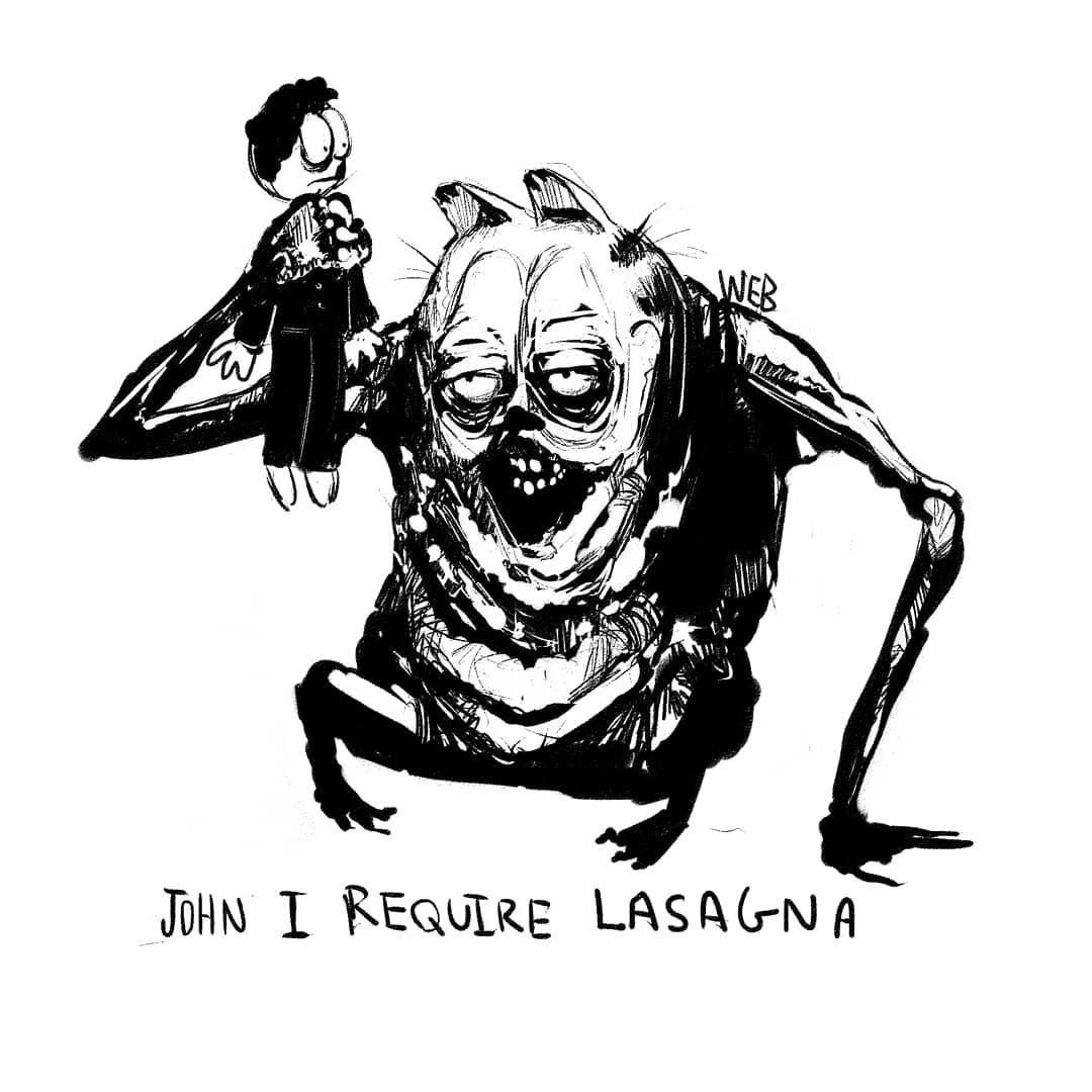 Creepy Garfield 1 By Will Burke Garfield Creepy Memes