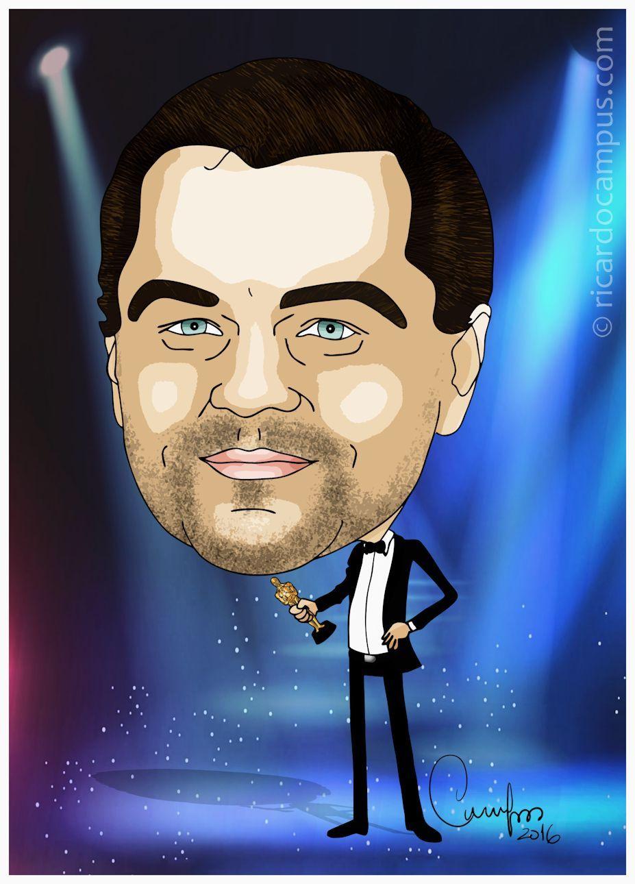 Ricardo Campus - Caricaturas: Caricatura Leonardo DiCaprio