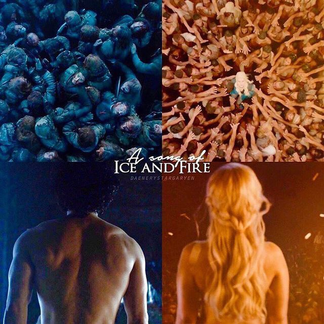 A song of ice and fire~  Winter is here  Dragons are here  #gameofthrones #got #daenerys #targaryen #jonsnow #jonstark