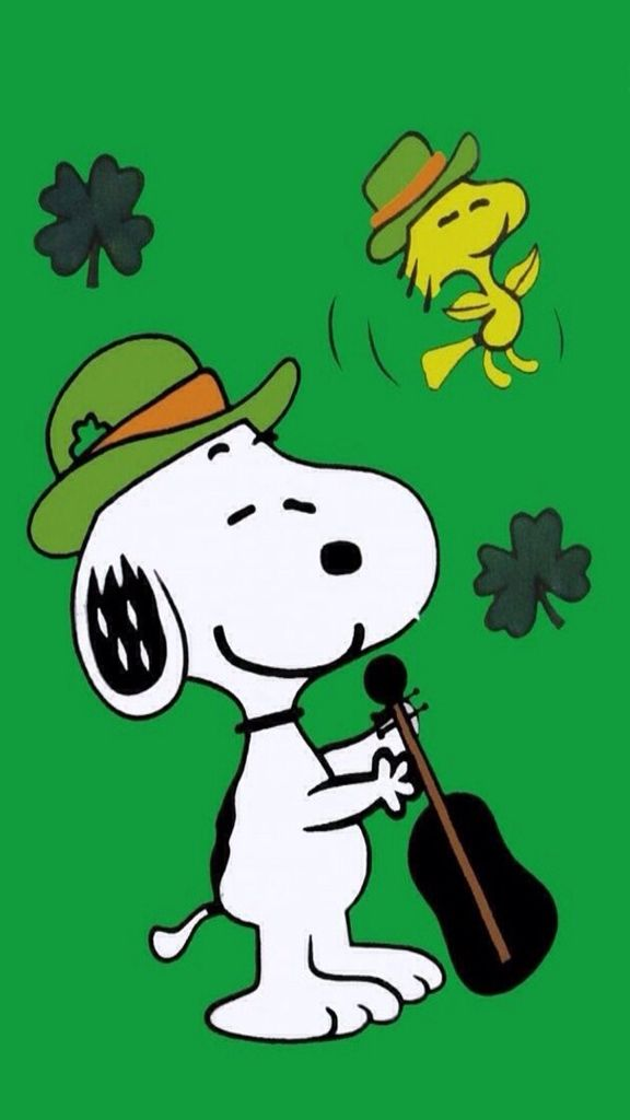 Iphone Wallpaper St Patrick S Day Tjn Snoopy Snoopy Wallpaper St Patricks Day Wallpaper