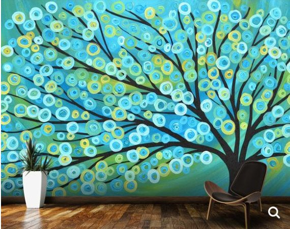 3d Abstract Mural Abstract Wall Mural Abstract By 4kdesignwall Painting Wallpaper Tree Painting Tree Wallpaper