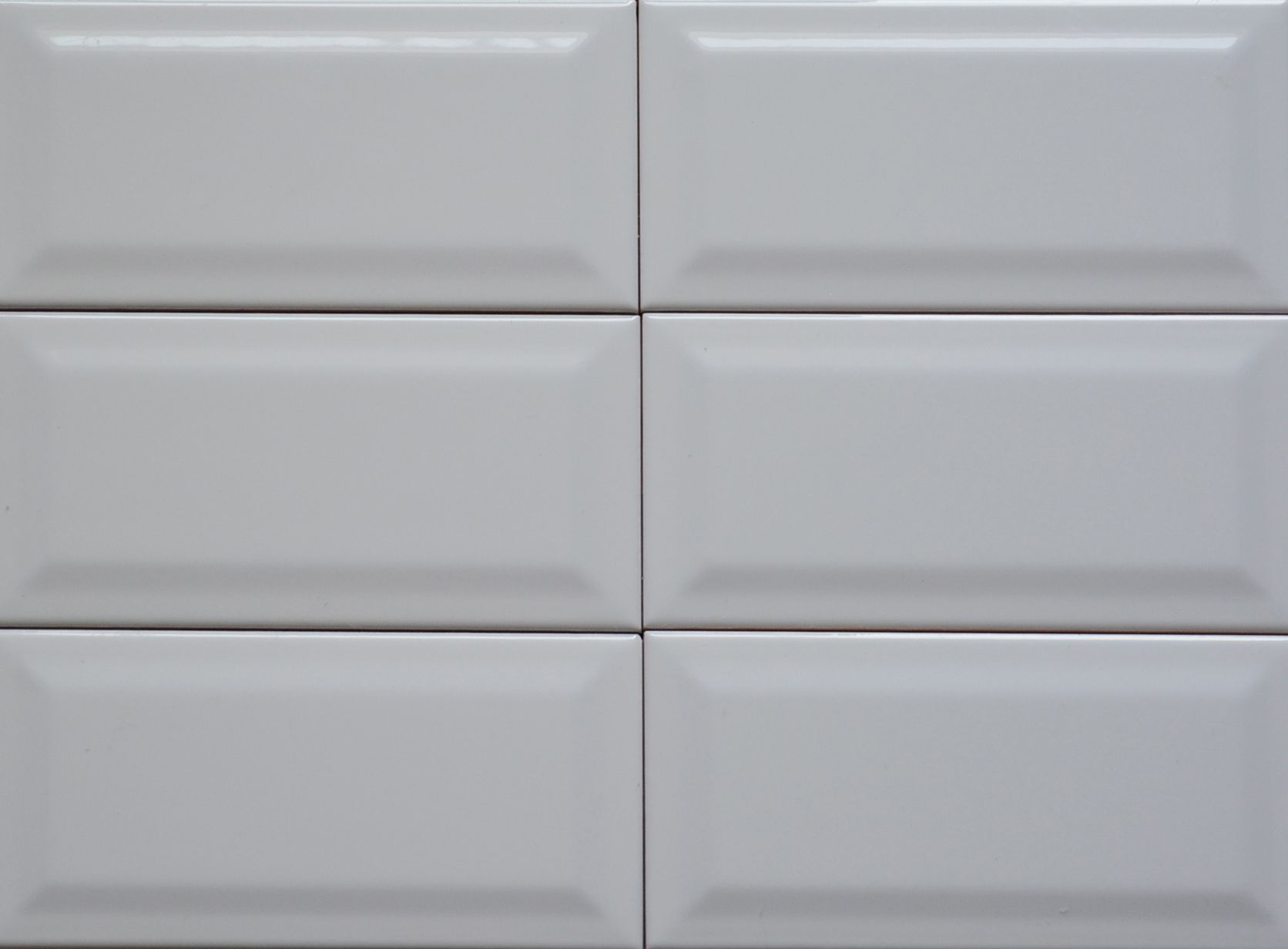 Classic Included Backsplash Tiles  - White Beveled Edge