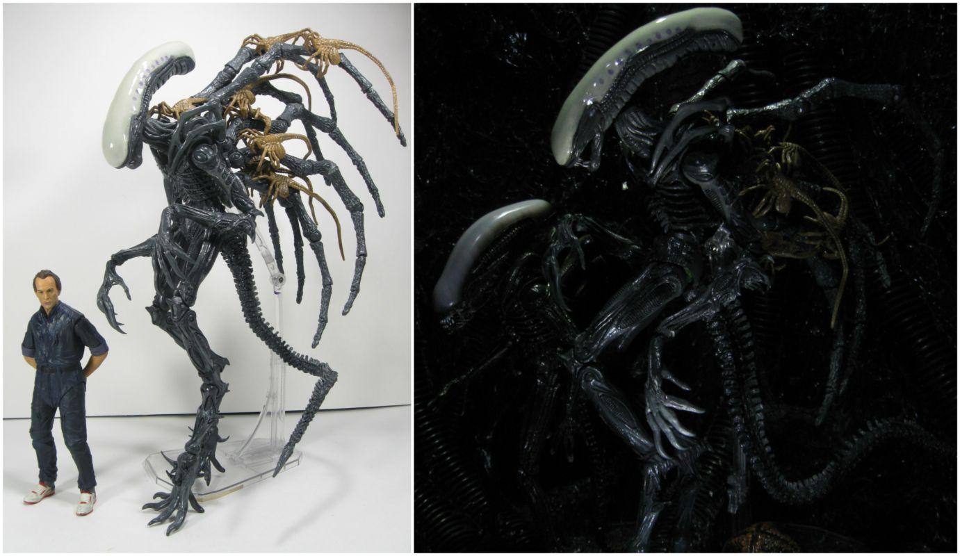 NECA AVP Aliens vs Predator Hybrid Mixed Blood Predator Horror Action Figure Toy