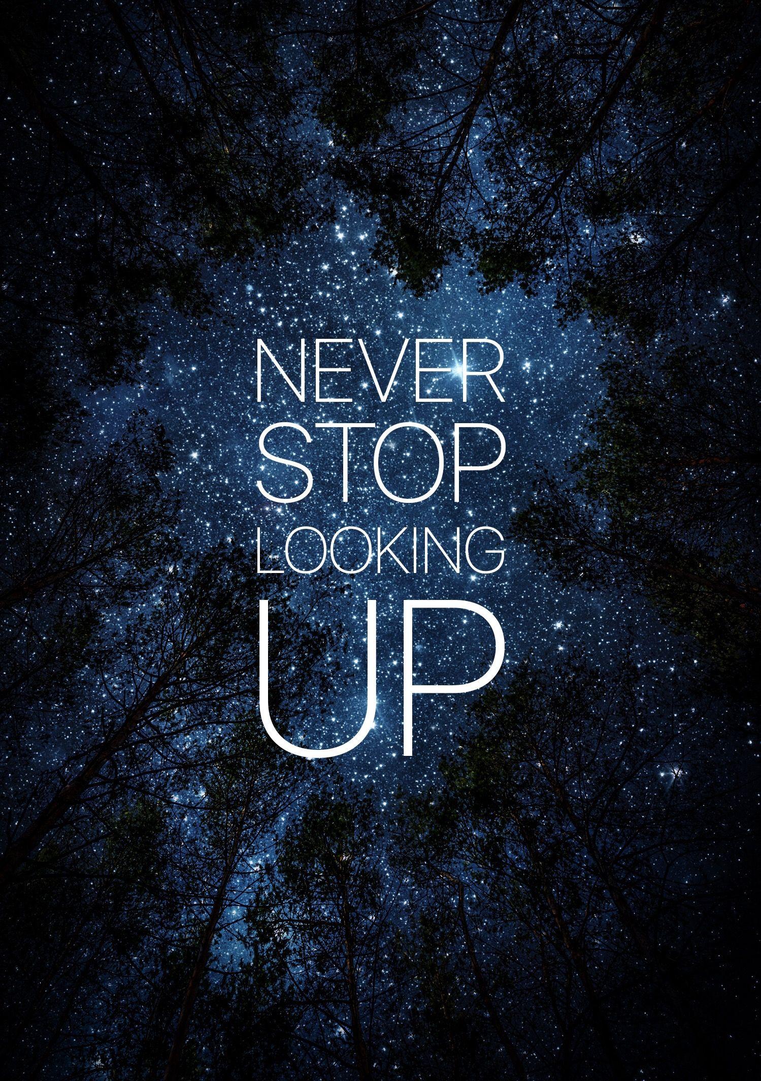 Never stop looking up naturenestd nature earth - Quit wallpaper ...