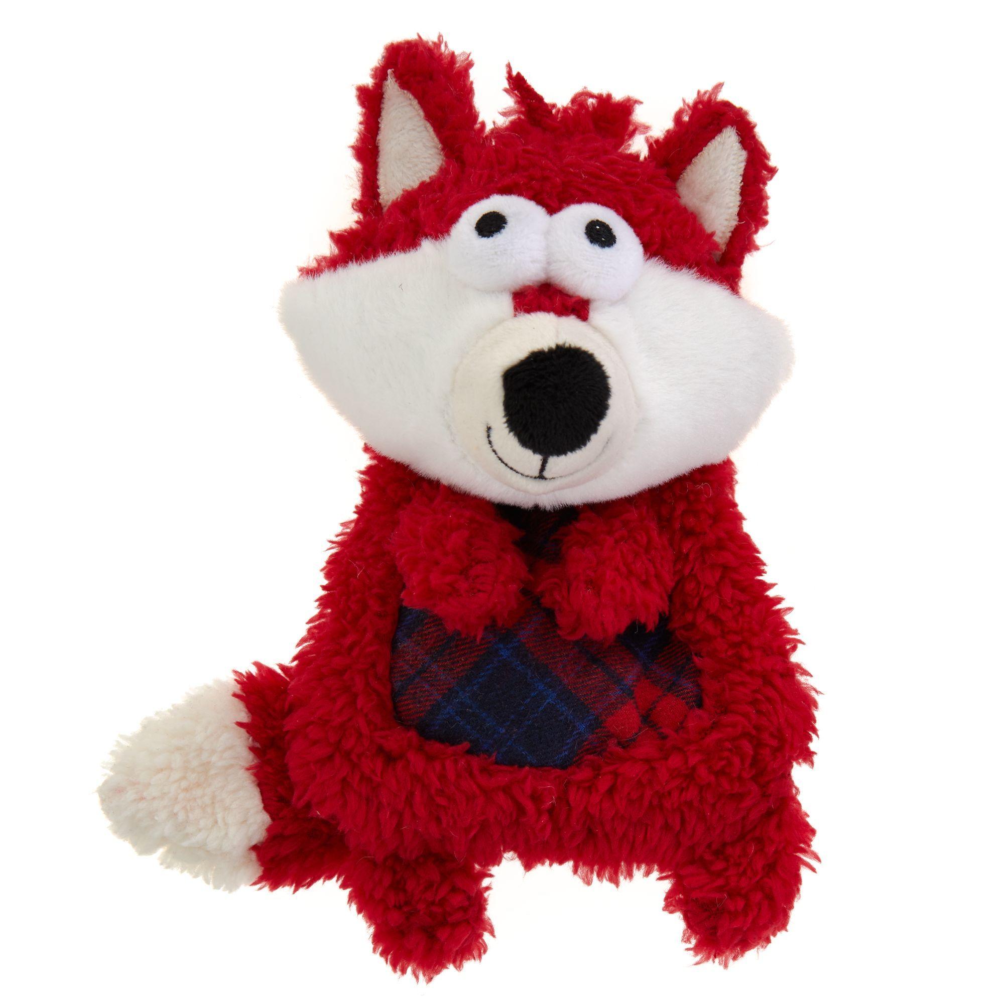 Top Paw Holiday Fox Flattie Dog Toy Crinkle Dog Toys Petsmart
