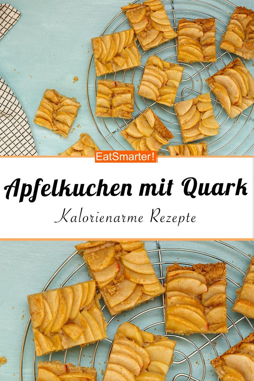 Kalorienarmer Apfelkuchen mit Quark