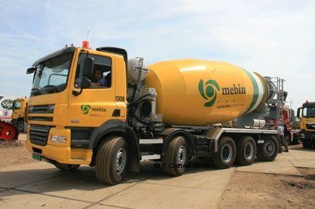 DAF CF - Mebin | Cement | Mixer truck, Trucks, Concrete mixers