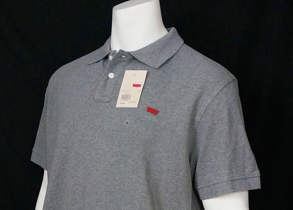 1569a96a1 Men Levis Levi's Gray Polo Golf Shirt Relaxed Classic Fit 100% Cotton sz XL  NWT #Levis #PoloRugby