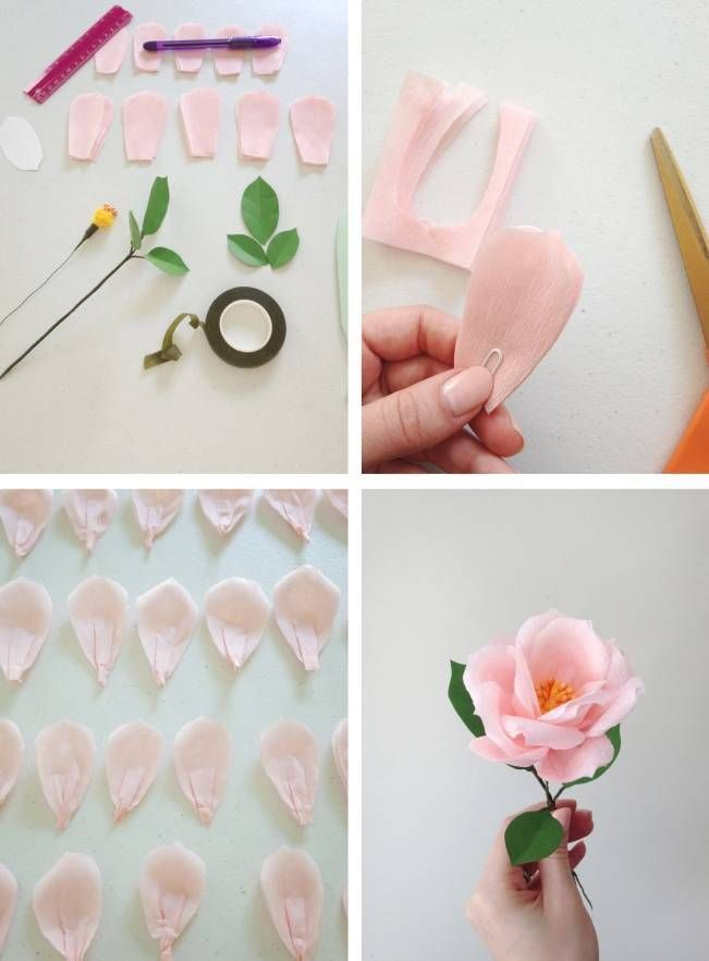 Photo of making a paper rose #tissuepaperflowers