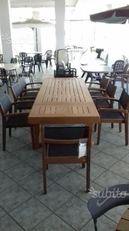 Subito It Tavoli E Sedie Da Giardino.Tavolo Legno Teak 320 X94 Sedie Iroko Batyline Tavoli In Legno