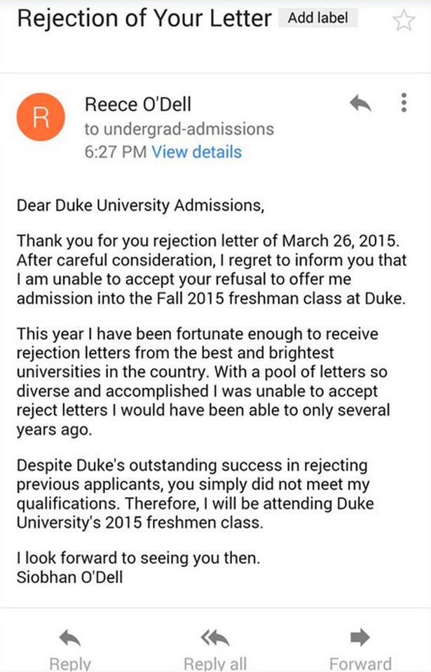 Teenager rejected the rejection letter of university by writing teenager rejected the rejection letter of university by writing another letter spiritdancerdesigns Images